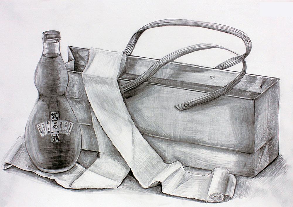 日本大学_デザイン学科 鉛筆デッサン(3時間)1