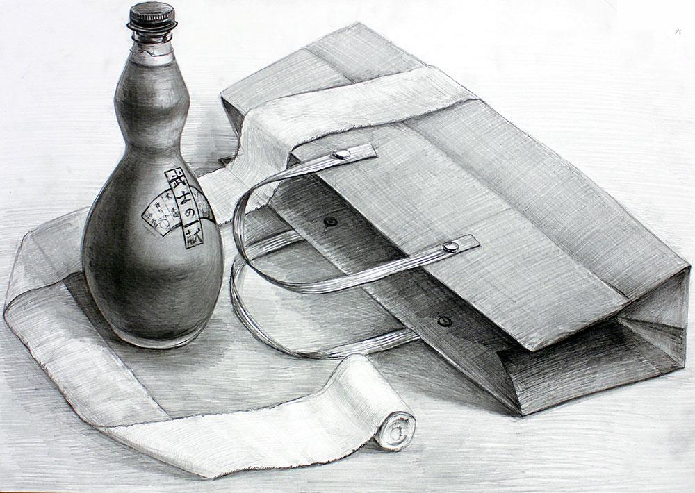 日本大学_デザイン学科 鉛筆デッサン(3時間)2