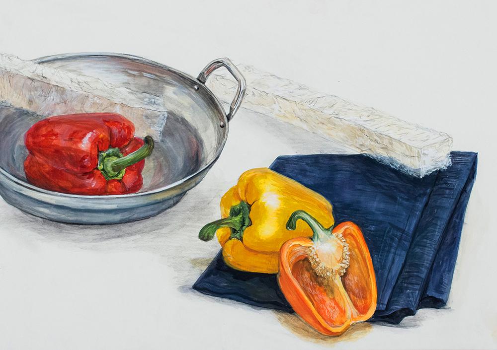 名古屋芸術大学 美術学科 日本画コース A日程入試 第一・第二方式共通 水彩