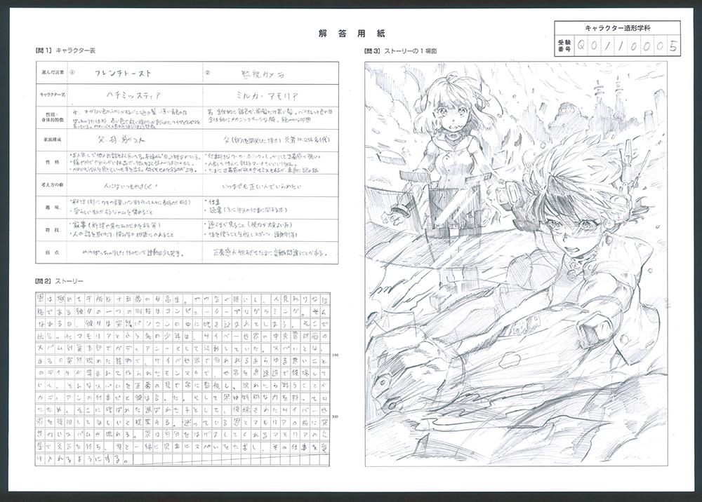 大阪芸術大学 キャラクター造形学科 推薦入試 適性実技