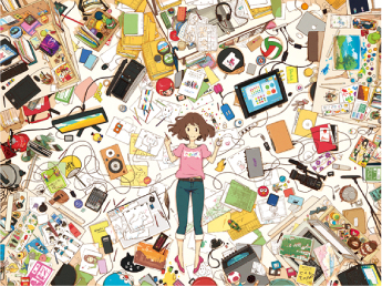 石田祐康『京都精華大学アニメーション科 卒展ポスター』2012年