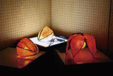 クラフトデザインコース(ガラス) 「ホオズキのランプ」