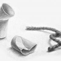 京都造形芸術大学-全学科・全コース「鉛筆デッサン(静物)」1