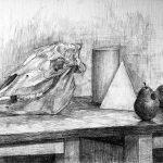 名古屋芸術大学-美術学部 美術学科 洋画コース 推薦入試 デッサン(鉛筆)(6時間)