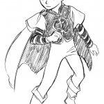 神戸芸術工科大学-推薦入学試験(前期)キャラクター表現 マントを着けた少年